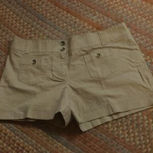 2/$20 NY&CO brown shorts w/pockets & button